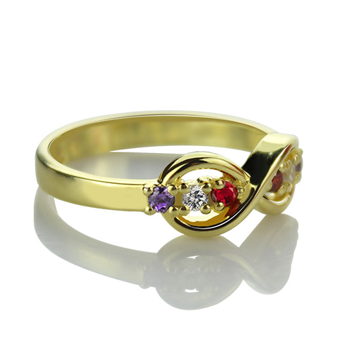 Infinity Promise Ring with Birthstone