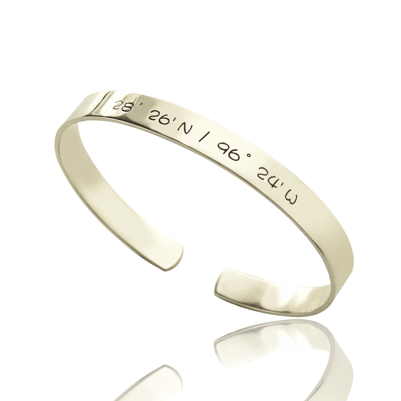 Personalized Mother's Cuff Bangle Bracelet