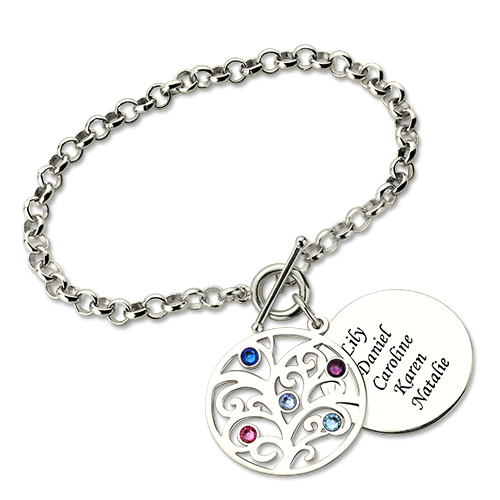 Personalzied Mothers Bracelet Sterling Silver