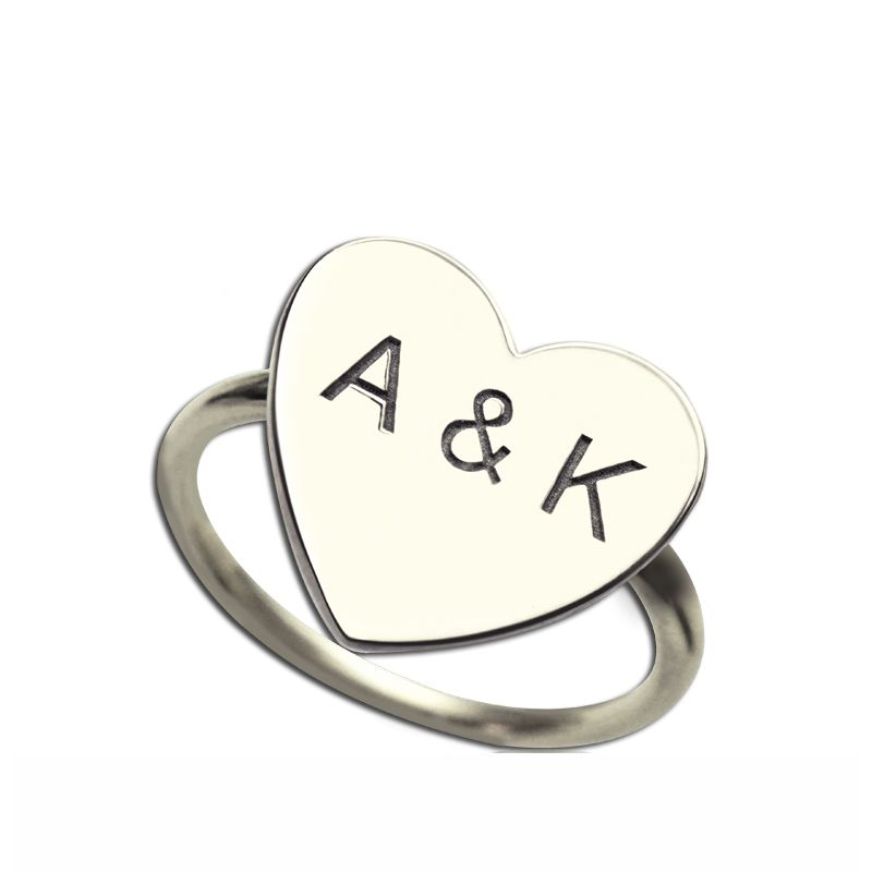 Engraved Sweetheart Ring