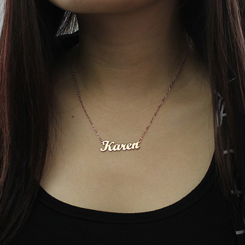 Rose Gold Karen Style Name Necklace