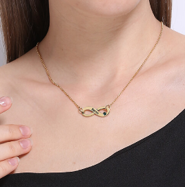 Personalized Infinity Name Necklace In Gold