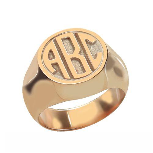 Circle Signet Ring Rose Gold