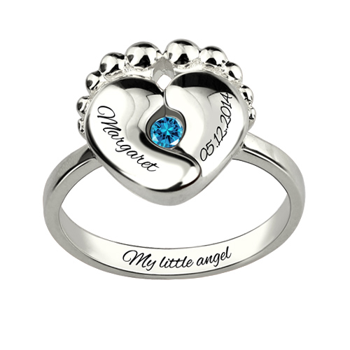 Birthstone Ring For New Mom