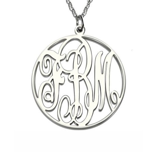 Personalized Necklace Circle Monogram