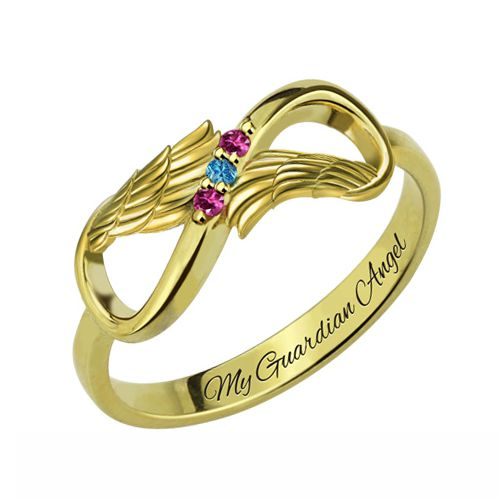 Angel Wings Infinity Ring