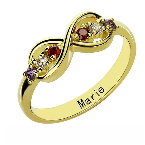 Infinity Promise Ring with Birthstones