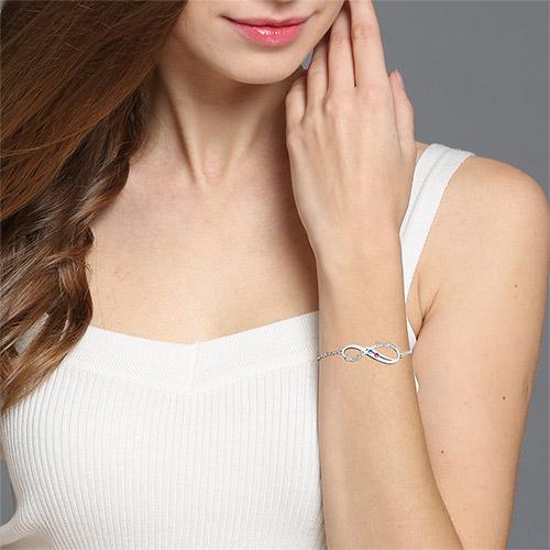 Custom Mother's Bracelet Cut Out Name