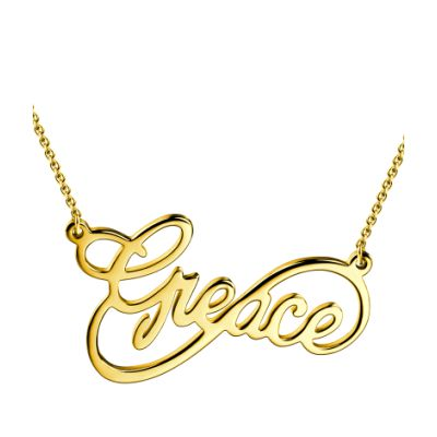 Custom Infinity Name Necklace 18k Gold Plated