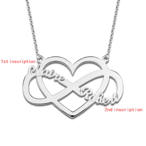 Infinity with Heart Name Necklace
