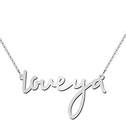 Small Classic Name Necklace in Silver