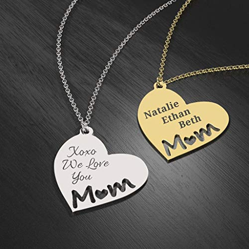 18k Gold Plated Heart Necklace For Mother