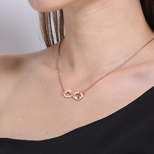 Personalized Rose Gold Infinity