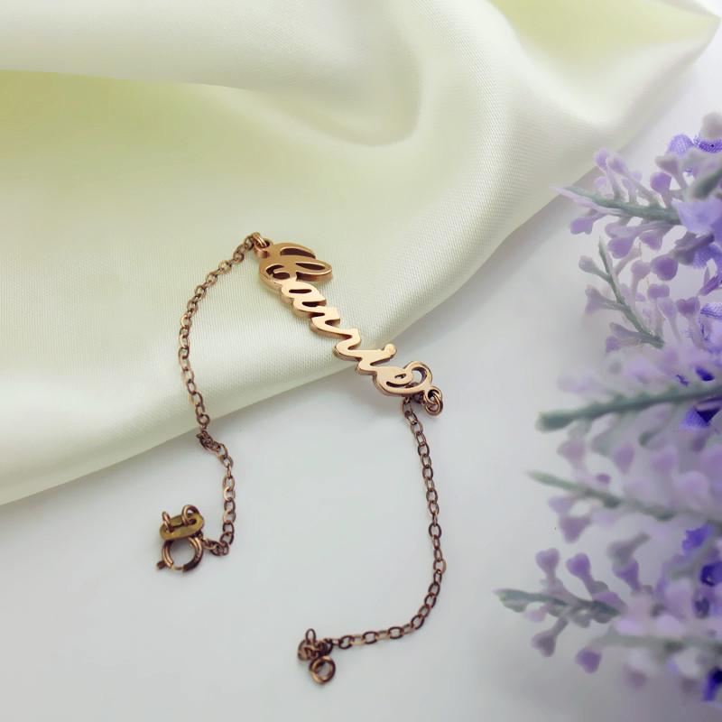 Rose Gold Plated Silver Bracelet