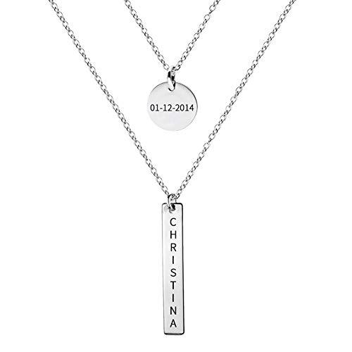 Bar Necklace Set for Moms