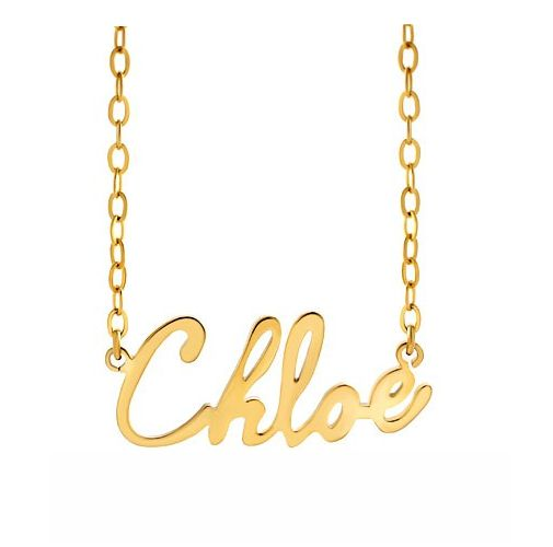 Name Necklace 18k Gold Plated Custom Made