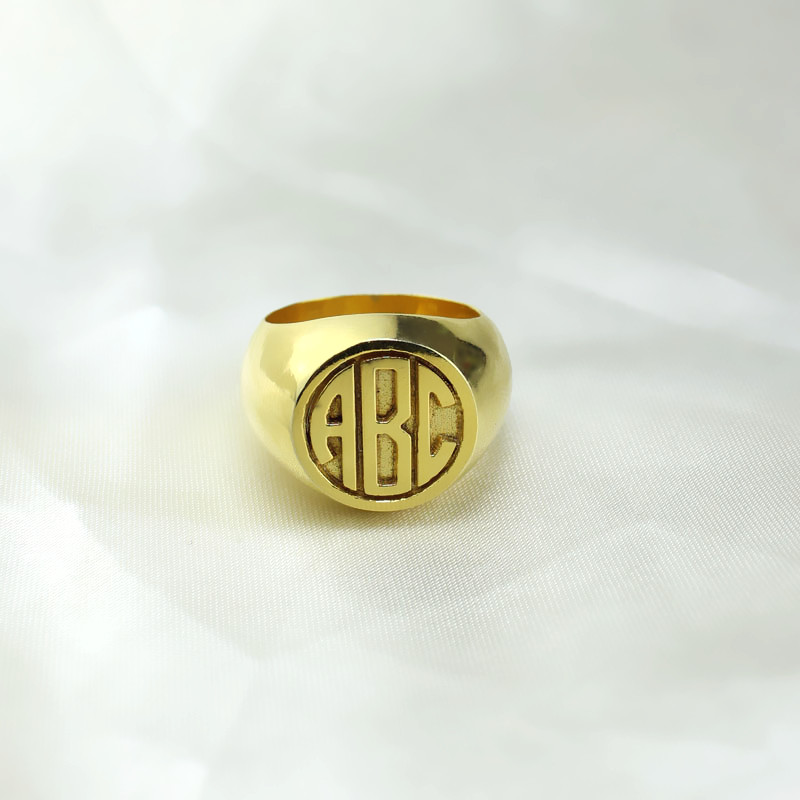 Customized Signet Ring - Block Monogram