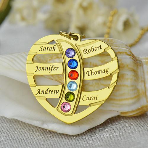 Mothers Necklace - Children Names & Birthstones