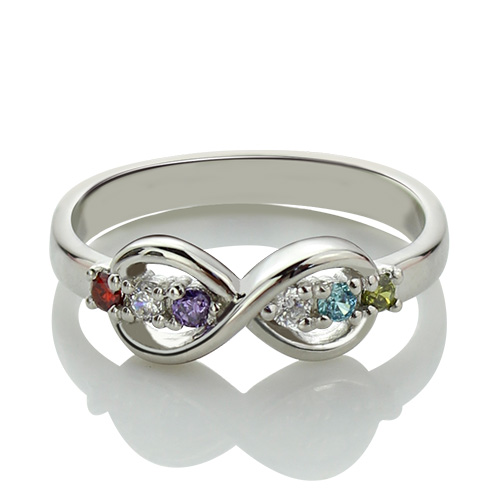 Personalized Birthstone Infinity Rings For Her