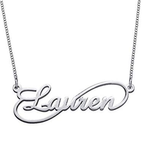 Unique Infinity Style Name Necklace
