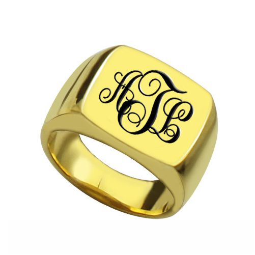 Custom 18K Gold Plated Ring