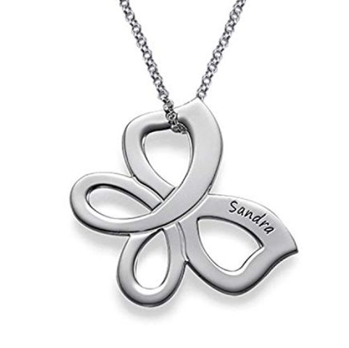 Butterfly Name Classic Necklace Sterling Silver