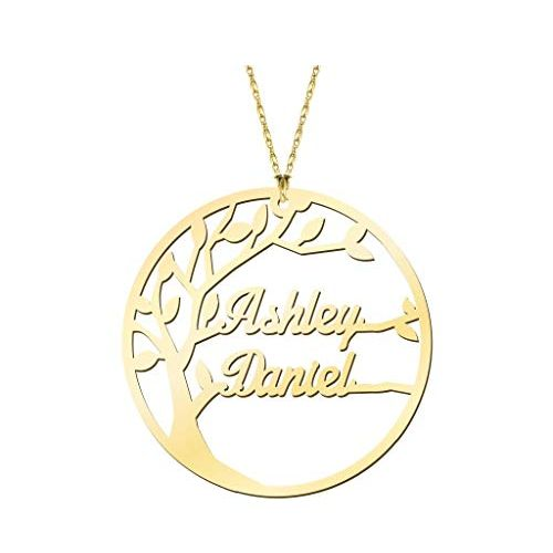 Personalized Family Name Necklace 18k Gold Plated