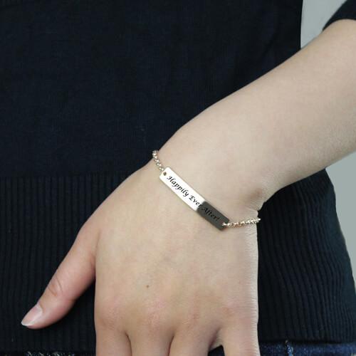 Bar Bracelet For Mom Sterling Silver