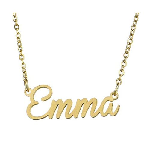 Classic New Gold 18k Name Necklace