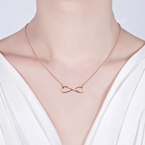 Engraved Infinity Symbol Necklace