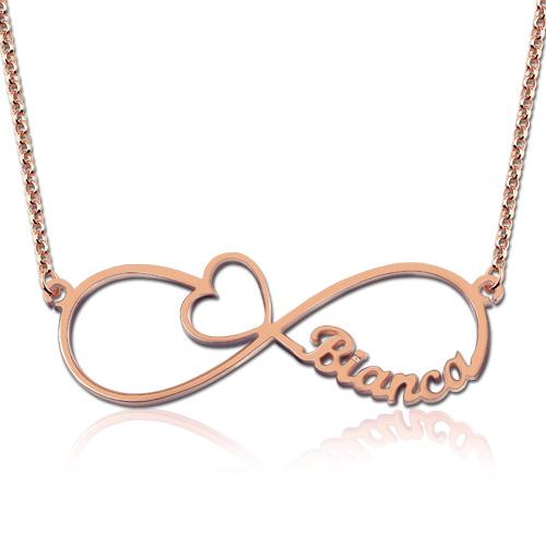Infinity Name Necklace - Arrow Heart