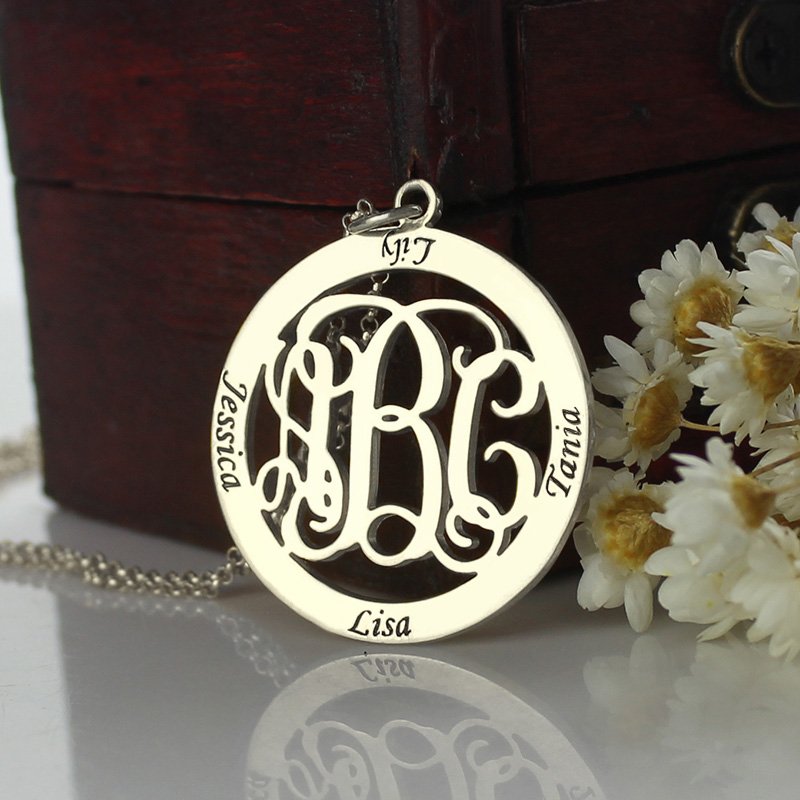 Personalized Family Monogram Necklace