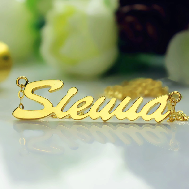 "Gold Personalized Name Necklace ""Sienna"""