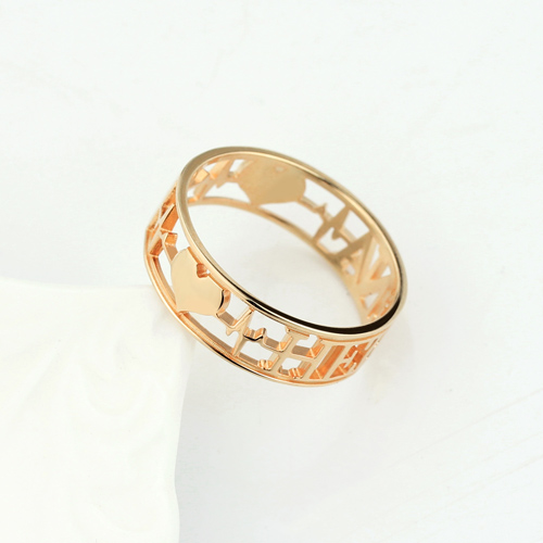 Heartbeat Ring  for Her In Rose Gold