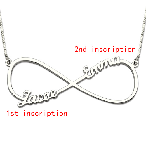 Infinity Two Names Sterling Silver