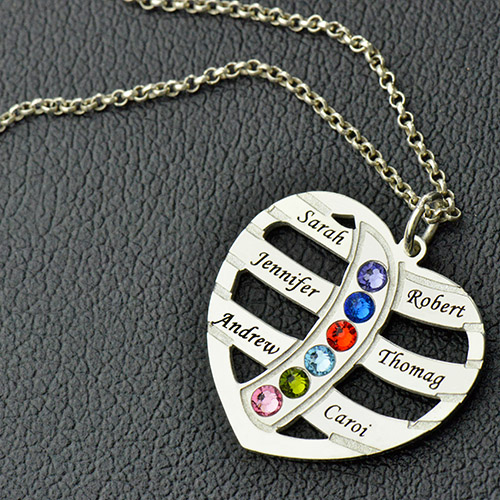 Mom's Necklace With Children Names