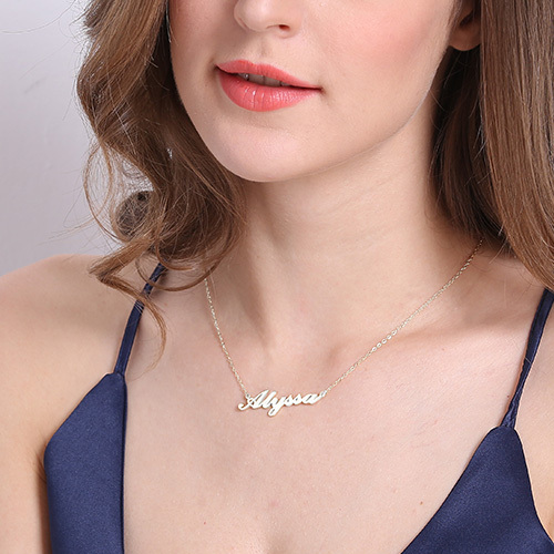 Personalized Carrie Name Necklace - Sterling Silver