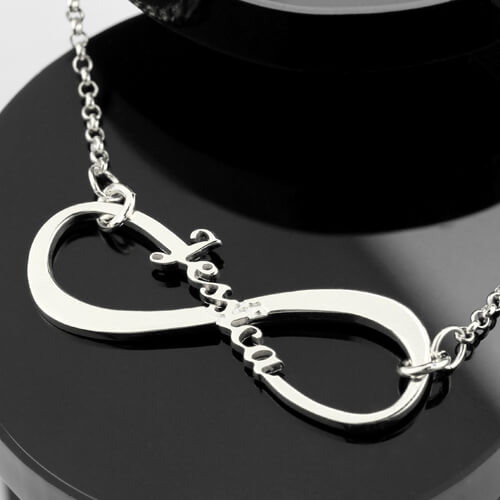 Single Name Infinity Necklace Sterling Silver