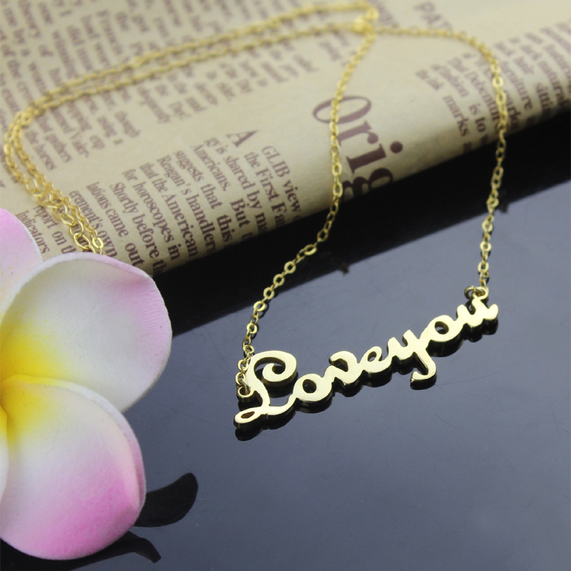 Personalized 18K Gold Plated