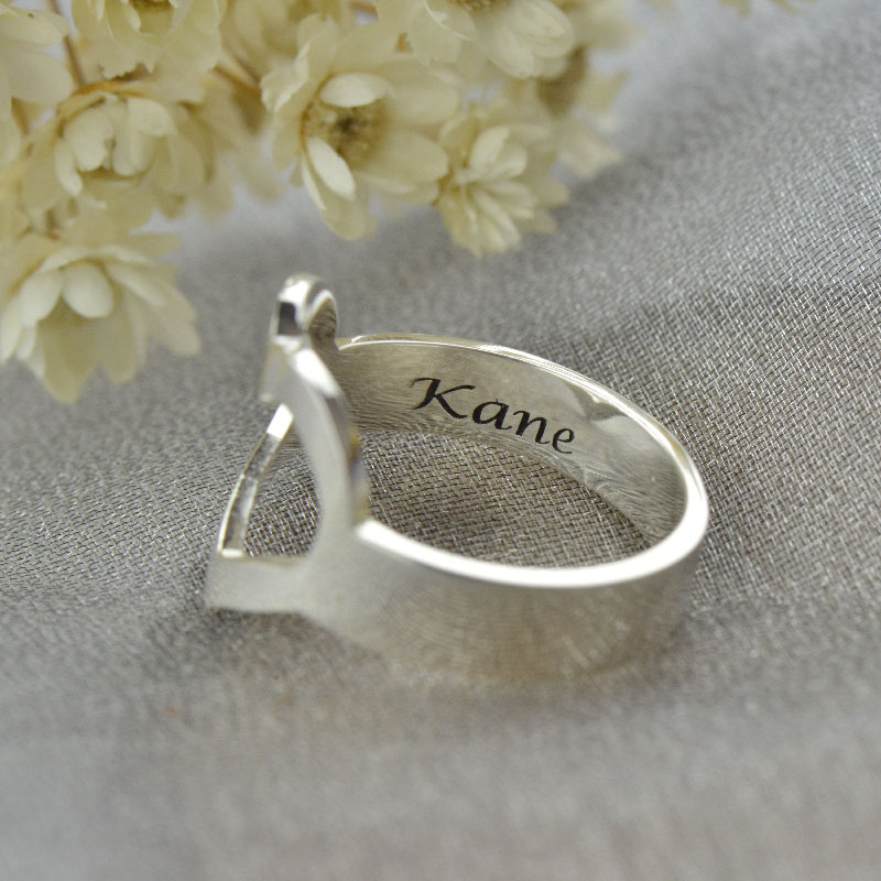 Personalized Couple's Name Promise Heart Ring