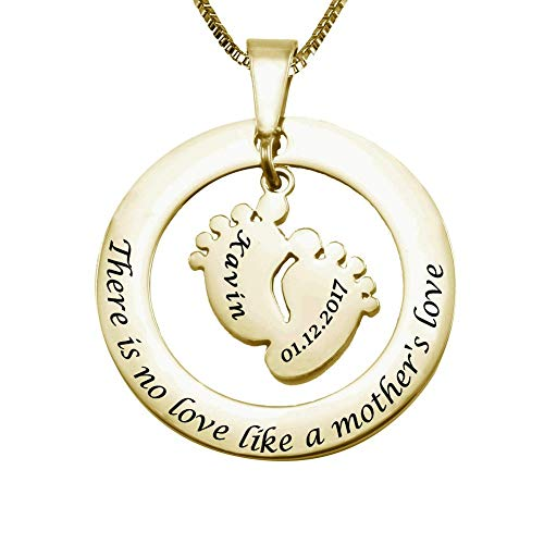 New Mom I Love You to the Moon and Back 18k Gold Plated