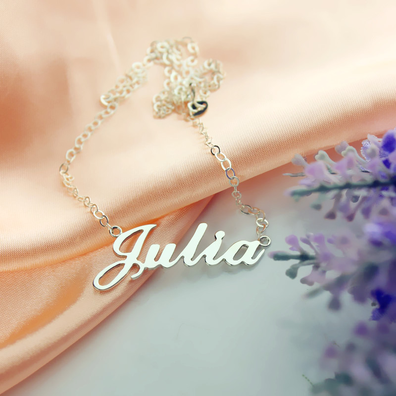 Personalized Classic Necklace in Silver