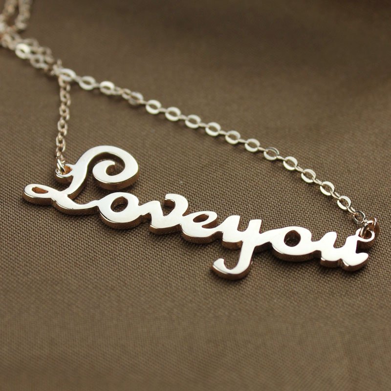 Rose Gold Plated Name Necklace