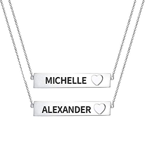 Bar Necklace Set in Sterling Silver