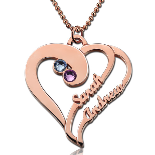 Forever Name Necklace Rose Gold