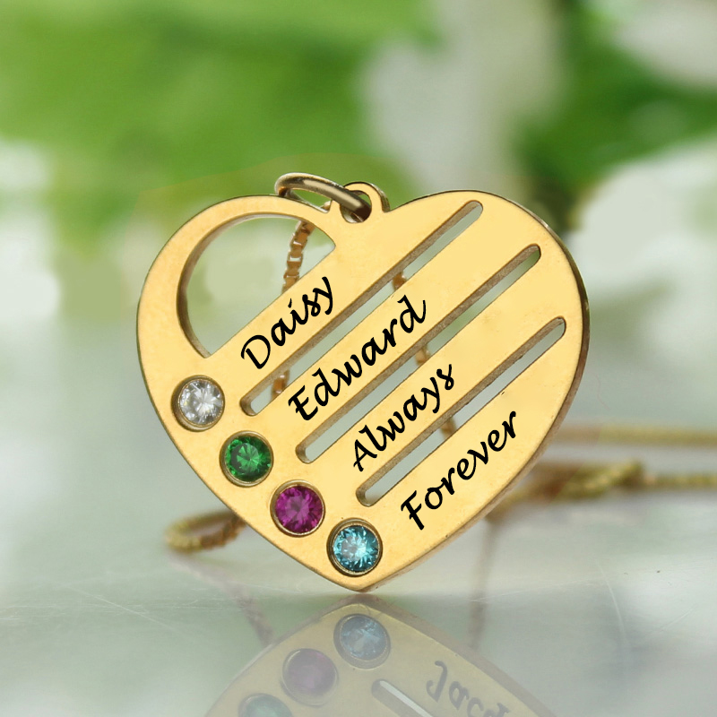 18ct Gold Plated Mothers Birthstone